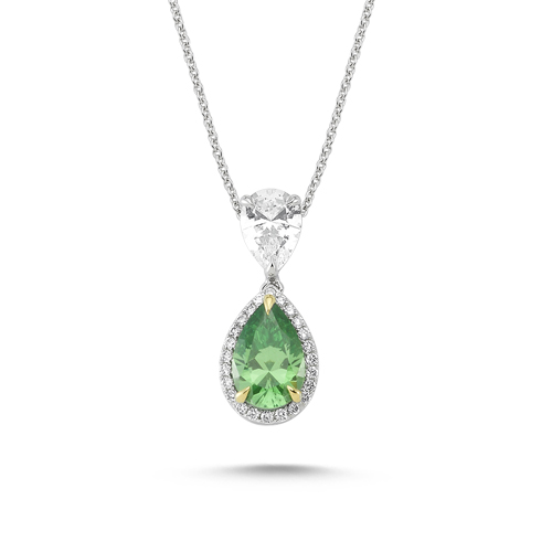 Колие с диаманти